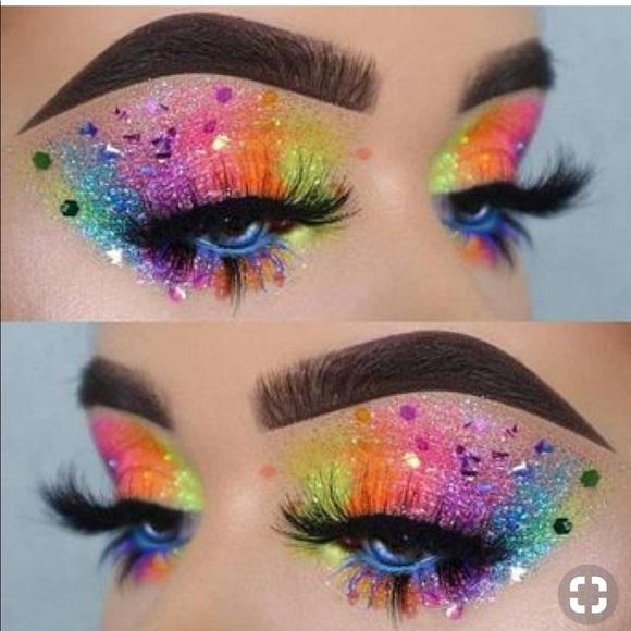 NEON BLUE Medusa Makeup Glitter Pot NWT